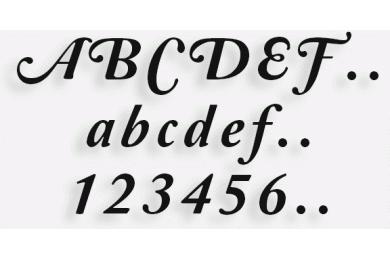 Lettere in Legno mod.63