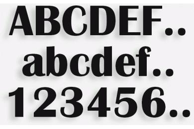 Lettere in Legno mod.04