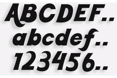 Lettere in Legno mod.35