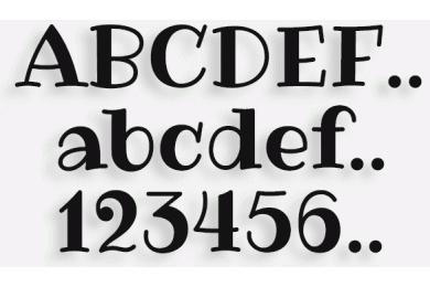 Lettere in Legno mod.38