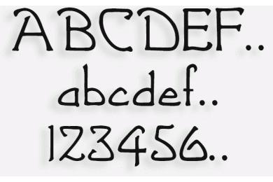 Lettere in Legno mod.39