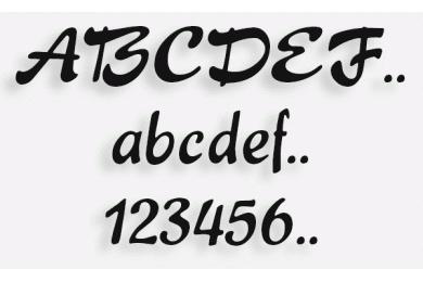 Lettere in Legno mod.75